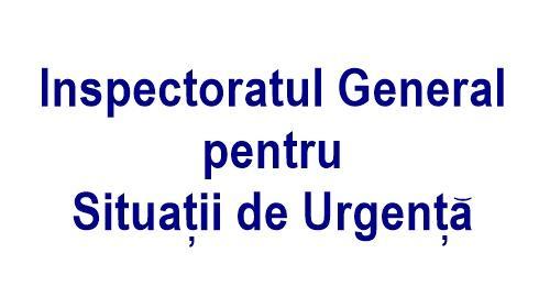 Locuri de munca INSPECTORATUL GENERAL PENTRU SITUATII DE URGENTA